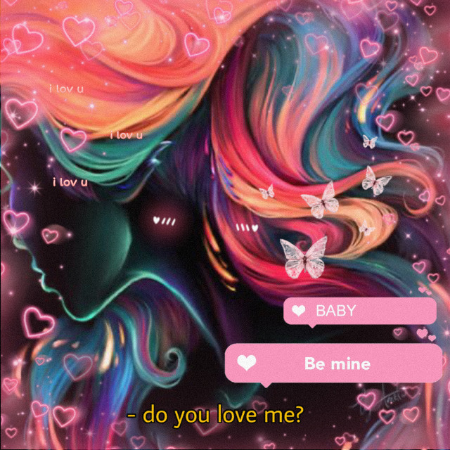 #freetoedit #remixed #neon #pink #colorful #valentinesday #love #bemine #hearts #butterflies #art #drawing #remixit