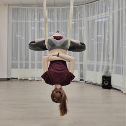 hammock yoga gymnastics girl yogatraining freetoedit