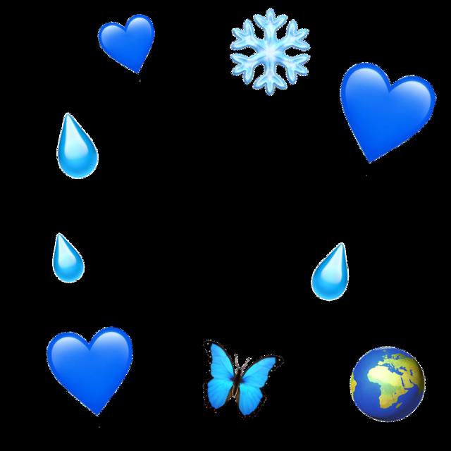 #blue #emojibackground #emoji #iphone #stickerbackground