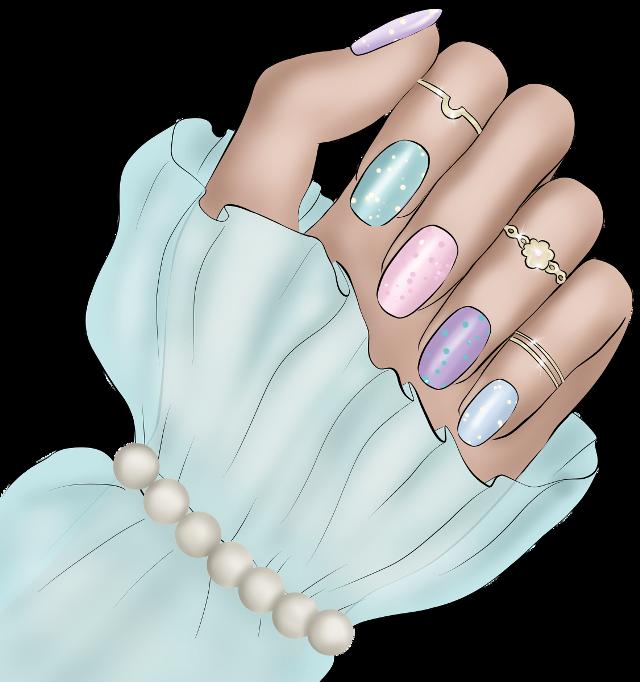 #nails #pastel #nailart #rings #pearls #lilac #pink #babyblur #aqua #mint #hands #freetoedit