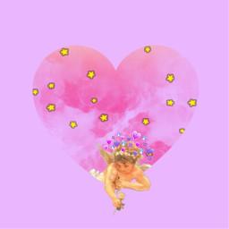 freetoedit cupid purple valentinesday