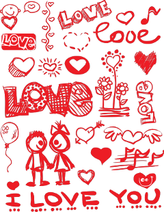 doodle drawing red valentinesday background freetoedit