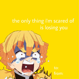 freetoedit valentinesday demonslayer