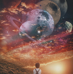 freetoedit background clouds cloud sky star stars space light magic colors colorful colorfulsky plants galaxy boy child kid visual surreal remix creative visualart creativity