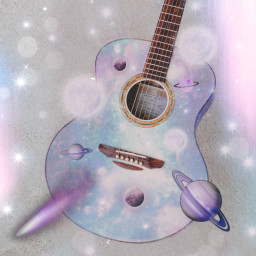 freetoedit foredit gitar love cosmic