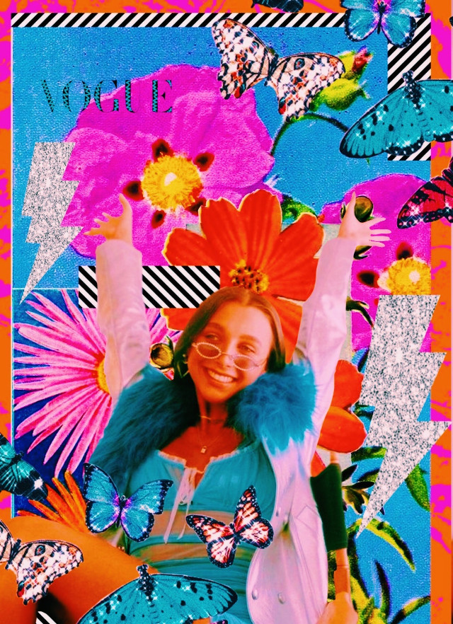 emma🦧🌝🧲 again c1 version#emmachamberlain #vscogirl #butterfly #lightningbolt #flower #print #pinterest #cool #vibrant #colorful #color #bright #vsco #vscocam #art #artsy #vscoart #aesthetic #pinterest #heypicsart #c1 #freetoedit