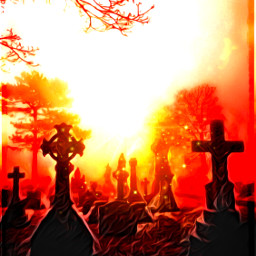freetoedit graveyardsunset graveyard sunset dramatic