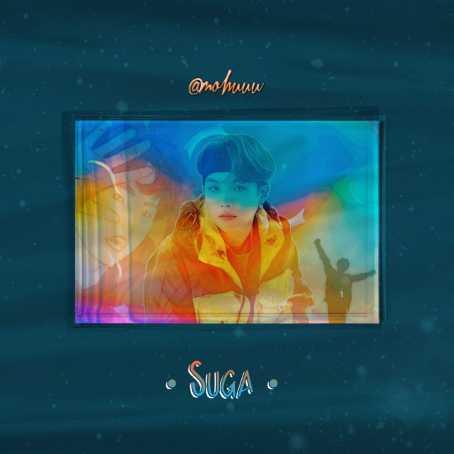••• ||Colourful package pt.2||  Editing by me . Idea by me too.  😂 Don't copy , cuz you'll look like a clown . 🤡👌      #freetoedit  #rainbow  #remixit  #kpop  #suga  #bts