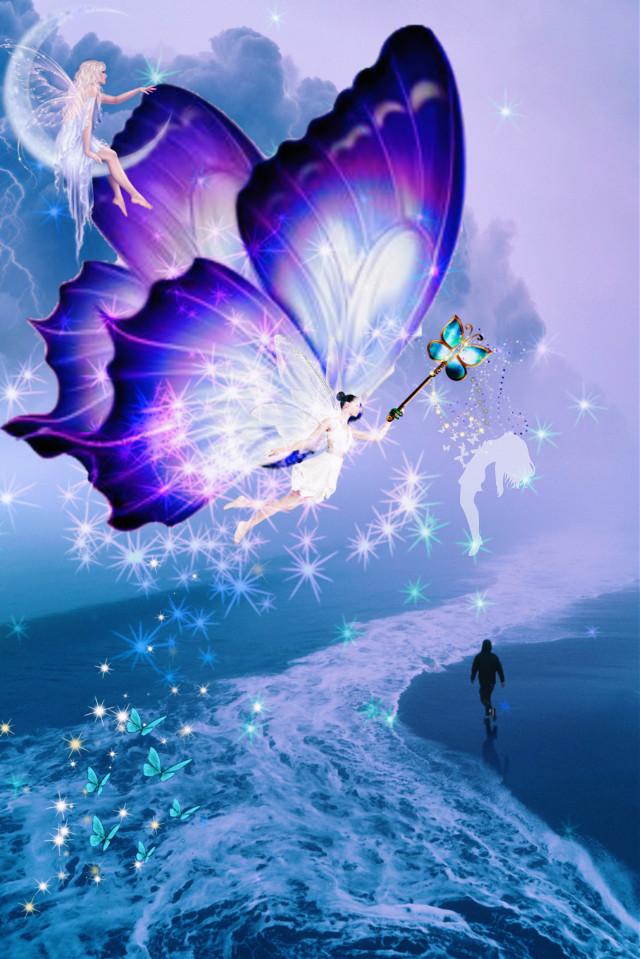 Happy weekend guy's 🎼😊💞#fantasyart#picsartedit  #freetoedit #fairytailedit #butterflies #becreative #madewithpicsart