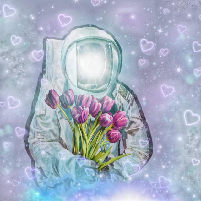 #freetoedit #valentinesday #galactic #space #neonheartsbrush