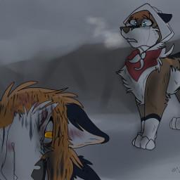 sad story wolf wolfart art freetoedit