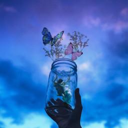 remix butterfly angels angel flowers freetoedit ircemptyjar emptyjar