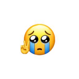 emoji peace sad crying freetoedit