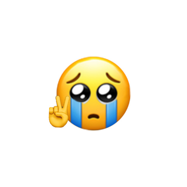 #emoji #peace #sad #crying  #freetoedit