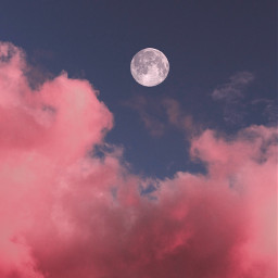 pink moon clouds youtube freetoedit