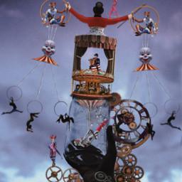 freetoedit clown circus circo carousel ircemptyjar