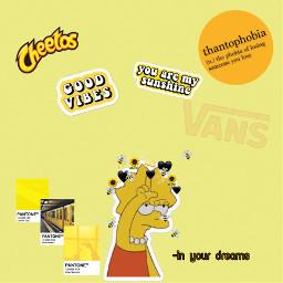 yellowaesthetic lisasimpson vans aesthetic cheetos freetoedit