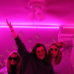 friends pink butterfly freetoedit