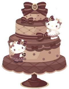 hellokitty chocolate cake valentinesday ribbon freetoedit
