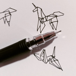 drawing ink theprometeus sketch origami