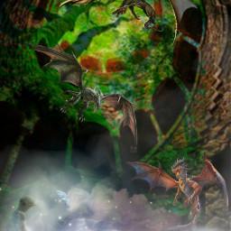 freetoedit dragons futuristic magical picsart