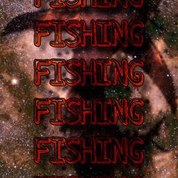 freetoedit fishing fish galazy wallpaper