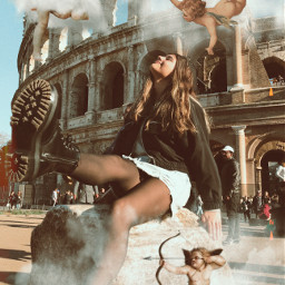 roma italy angels edit aesthetic freetoedit