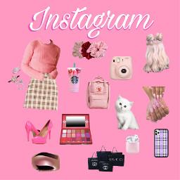 insta instagram richgirl pink purple freetoedit