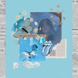 freetoedit blue aesthetic moodboard