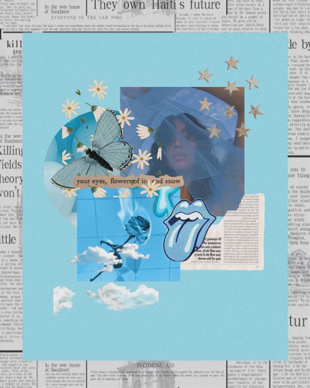 #freetoedit #blue #aesthetic #moodboard