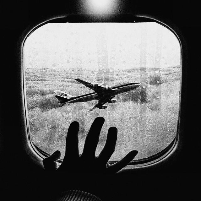 #blackandwhite #plane #view