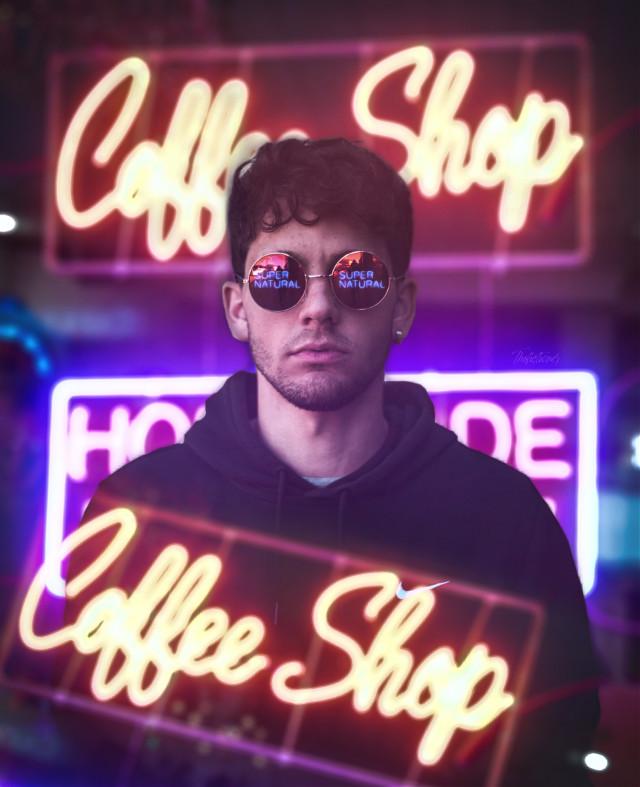 - V A N C I T Y -   º Edit by me  º Boy - Photo by pablo soriano º Neon Coffee Shop - Photo by Megan Markham  º Neon Supernatural - Photo by Kewal  #neon #portrait #aesthetic #lights #heypicsart #boy