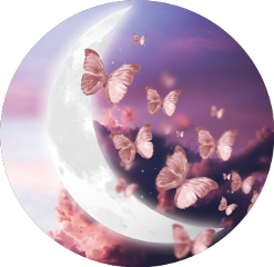 freetoedit moon butterfly pink cottoncandyclouds scmoon