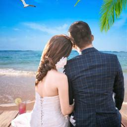 freetoedit beach coupleinlove