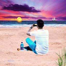 freetoedit beach sunset