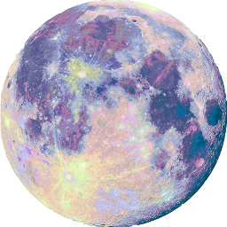 moon sticker colorful freetoedit scmoon