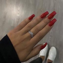 rednails nailz nails red nailspolish