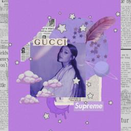 freetoedit purple aesthetic arianagrande