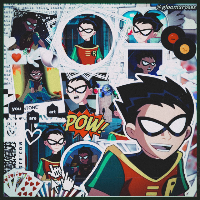 i stan only one robin😍🖤❤️💛💚 • • creds: @/shxriitch on tumblr • • #robin #robinedit #dickgrayson #richardgrayson #nightwing #teentitans #teentitansgo #titans #tt #dc #dccomics #batman #gotham
