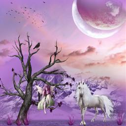 dreamworld digitalart fantasy fantasyart fantasyanimal freetoedit