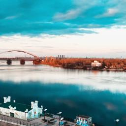 photography river sky 4asno4i kyiv freetoedit
