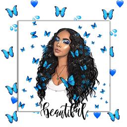 freetoedit butterfly blue ecemojibackgrounds emojibackgrounds