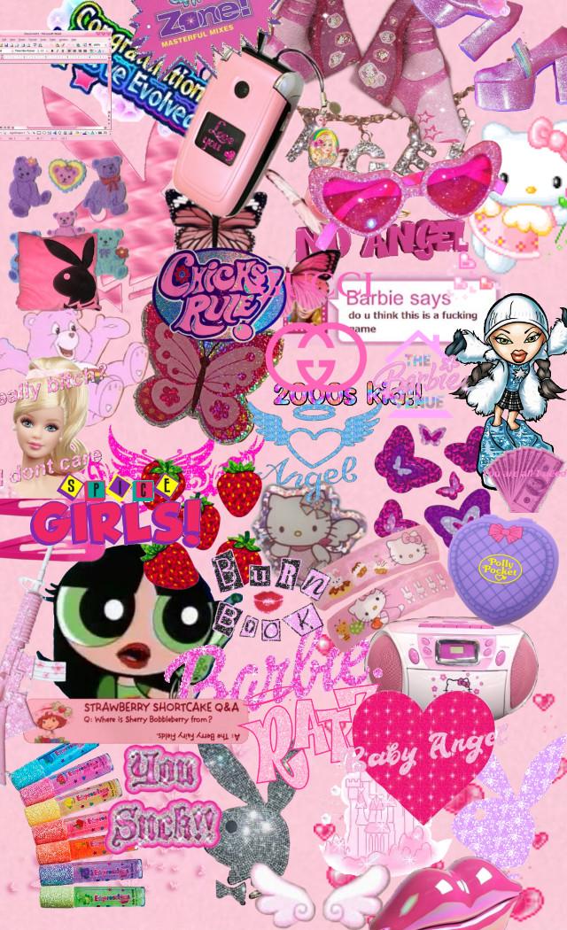 #freetoedit 𝖣𝖺𝗂𝗅𝗒 𝖠𝖾𝗌𝗍𝗁𝖾𝗍𝗂𝖼𝗌 | 𝖸2𝖪 ꨄ☽シ #y2k #2000s #aesthetic #cute #pretty #bratz #barbie #pink #kid