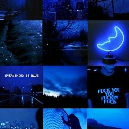 freetoedit aesthetic blue aesthetictumblr picsartedit