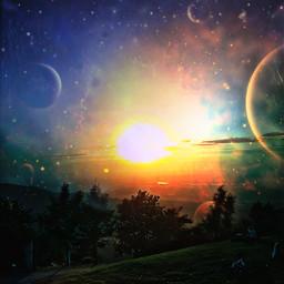 freetoedit a dark planets sun greenery freetoedit