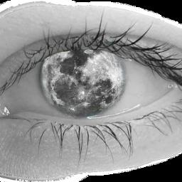 moon eye eye_edit moon_edit freetoedit scmoon