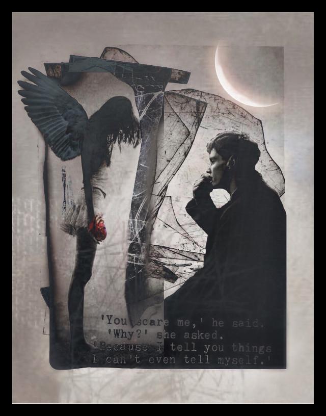#babelart #emotions #angel #man #moon #interesting #truth #honesty #trust #unburdened #heart #overlays #border #myedit    #freetoedit    @picsart
