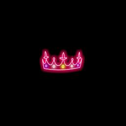 neon neonpink crown