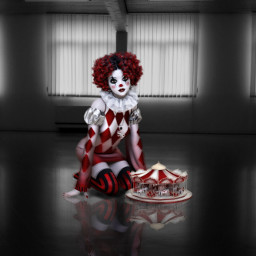 freetoedit carnival clown sad carnaval