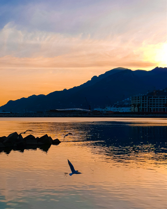 #amalficoast #salerno #italy #sunset #sea #picoftheday
